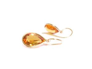 Ohrhänger mit Goldberyll Topfen in Gelbgold