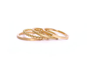 Ringe in Gelbgold